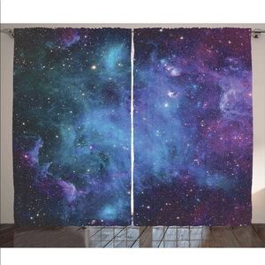 Galaxy Cosmo Outer Space Window Drapes